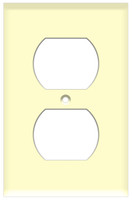 Duplex Receptacle Wall Plate 1-Gang Almond