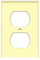 Duplex Receptacle Wall Plate 1-Gang Ivory