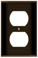 Duplex Receptacle Wall Plate 1-Gang Brown