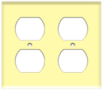 Duplex Receptacle Wall Plate 2-Gang Ivory