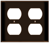 Duplex Receptacle Wall Plate 2-Gang Brown