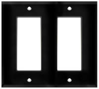 Decorative Wall Plate 2-Gang Black