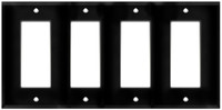 Decorative Wall Plate 4-Gang Black