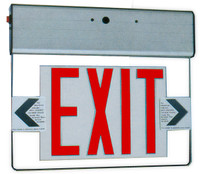 Edge Lit Exit Light Red