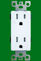 Decorative Receptacle 15Amp White Tamper Resistant