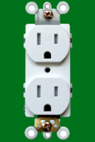 Receptacle 15Amp White Tamper Resistant