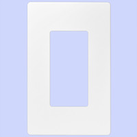 Decorative Screwless Wallplate 1- Gang White