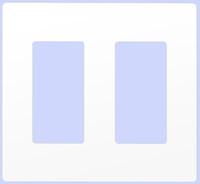Decorative Screwless Wallplate 2-Gang White