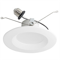 "6"" & 5""  LED Recessed Smooth  Retrofit Kit Reflector 4000K 15W"