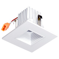"2"" LED Recessed Retrofit Kit Square -baffle 4000K  (Dimmable)"