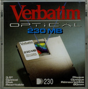 Verbatim 230MB Magneto Optical Disk