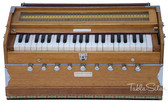 MAHARAJA MUSICALS Harmonium No. 127 - 9 Stopper, A440, 42 keys, Natural Color, With Coupler