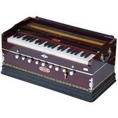 BINA Harmonium No. 17 B, 2 Reeds, 3½ Octaves, 9 stops, Coupler, Multifold Bellows, Rosewood Color