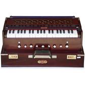 BINA No. 17 Deluxe Portable Harmonium, Dark Mahogany, 2 Reeds, 3½ Octaves, Coupler