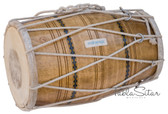 MAHARAJA MUSICALS Mango Wood Dholak/Dholki, Rope Tuned, Padded Bag - No. 105