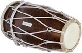 MAHARAJA MUSICALS Sheesham Wood Professional Dholak/Dholki, Rope-Tuned, Bag - No. 223