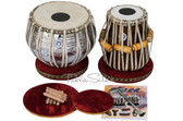 LALI & SONS Pro Designer Tabla Set, 3.5 Kg Brass Bayan, Sheesham Dayan - No. 281