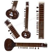 BAWABROS Electric Sitar, Tun Wood, Kharaj Pancham, Dark Natural Color - No. 405