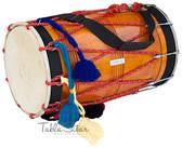 MAHARAJA MUSICALS Natural Punjabi Bhangra Straight Mango Dhol - Dhol No. 428