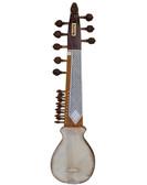 BAWABROS Designer Punjabi Rebab/Rabab, Unbreakable Tumba, Inlay Work, With Plectrum - No. 511