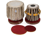 LALI & SONS Brass Dhama Set, Brass Dhama, Sheesham Wood Dayan - Tabla No. 530