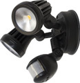 Martec Fortress Dbl Spot Sensor LED 13W 5000K Black MLXF502MS