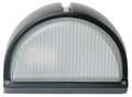 Oriel Small Cheval Bunker Light Plain Ip54 Blk OL7960BK