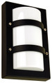 Oriel Trio Mini Black Outdoor Wall Light IP65 E27 Premium Powdercoated SG70522BK