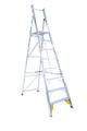 Bailey Platform Ladder Aluminium 150kg Platform Height 2.3m Heavy Duty Welded FS10719