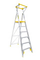 Bailey Platform Ladder Aluminium 170kg Platform Height 1.8m Professional With Gate FS13454