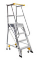 Bailey Platform Ladder Order Picker Aluminium 130kg Platform Height 1.8m Welded OP6MKII FS10866