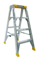 Bailey Step Ladder Double Sided Aluminium 150kg 1.2m Big Top Yellow FS13574