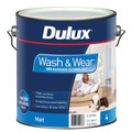 Dulux Wash & Wear 101 4L Matt Vivid White Interior Paint