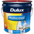 Dulux Weathershield 15L Vivid White Low Sheen Exterior Paint