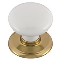 Door Knob Classic Metal Gb Med Wht Gld Rose 1356WHIBG