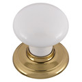 Door Knob Classic Metal Gb Sml Wht Gold Rose 1366WHIBG