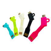Micro USB Flexible Key Chain Sync Charger Cable HTC LG Samsung Galaxy