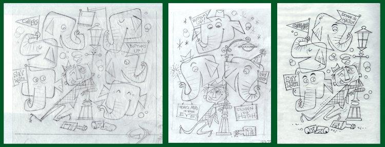 Sketches by Derek Yaniger