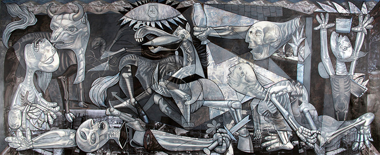 Ghosts of Guernica, 2011, oil n canvas