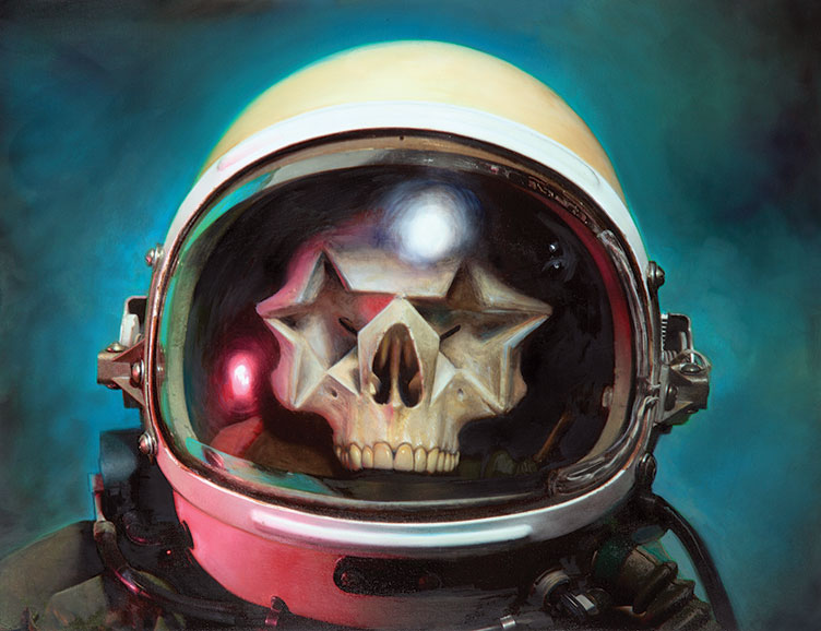 Major Tom (Star Skull) by Ron English, 2013, oli on canvas