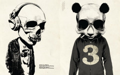 Skullface: Bobblehead and Panda No. 3 by Rhys Owen.