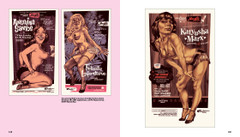 Burlesque poster's designed by Michel Casarromona from the book Burlesque Poster Design by Korero.