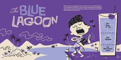 Non alcoholic cocktail: The Blue Lagoon. Kiddie Cocktails by Derek Yaniger and Stuart Sandler. Korero Press.