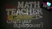 MATH teacher SUPERPOWER?