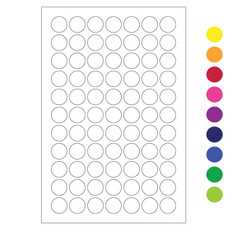 "Cryogenic Color Dots - 0.44"" circles #LT-11 (colors available)"