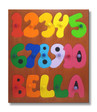 Personalized Name Counting Numbers Puzzle