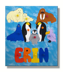 Kids Name Puzzle with Polar Animals