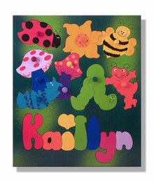 Childs Name Puzzle with Bugs and Insects
