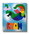 Personalized Name Puzzle for kids with a Flying Dragon