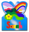 Kids Wood Name Puzzle Butterfly Nature Scene